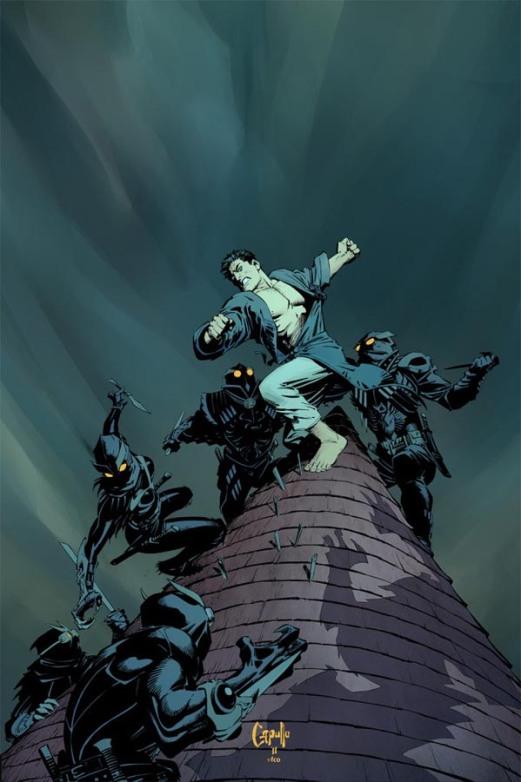 Bruce Wayne aux prises avec les Hiboux venus l'assassiner