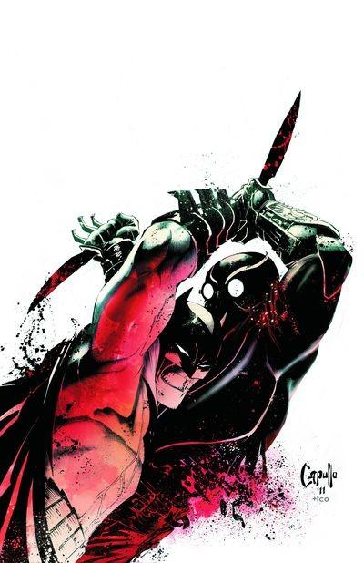 Batman à la lutte avec un Ergot, assassin à la solde des Hiboux