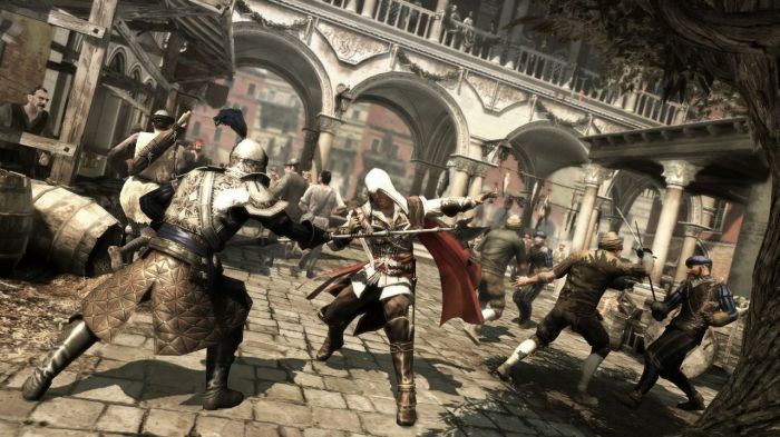Ezio a un style de combat amélioré comparé à Altaïr dans le premier Assassin's Creed