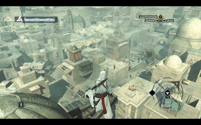 Cet Assassin's Creed pose les bases fondamentales de la série, dont la fameuse synchronisation en hauteur