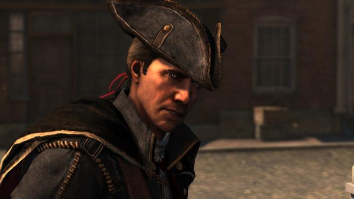 Haytham Kenway tel qu'il apparaît dans le jeu Assassin's Creed III