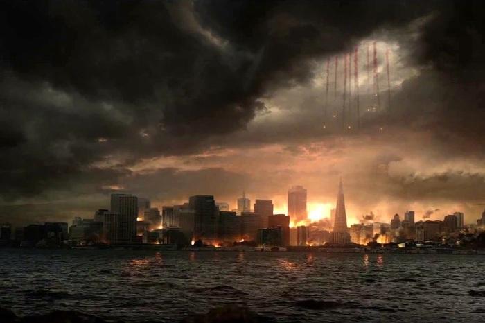 La scène des parachutes pour atterrir en ville est somptueuse de A à Z