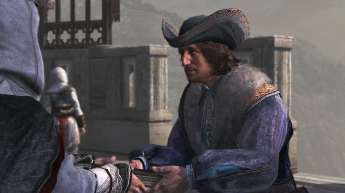 Niccolo Polo (ici face à Ezio dans Assassin's Creed - Revelations) est le véritable narrateur de cette histoire