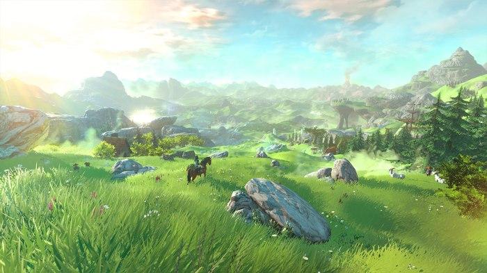 Hâte n°1 : galoper en long et en large avec Epona dans la plaine d'Hyrule