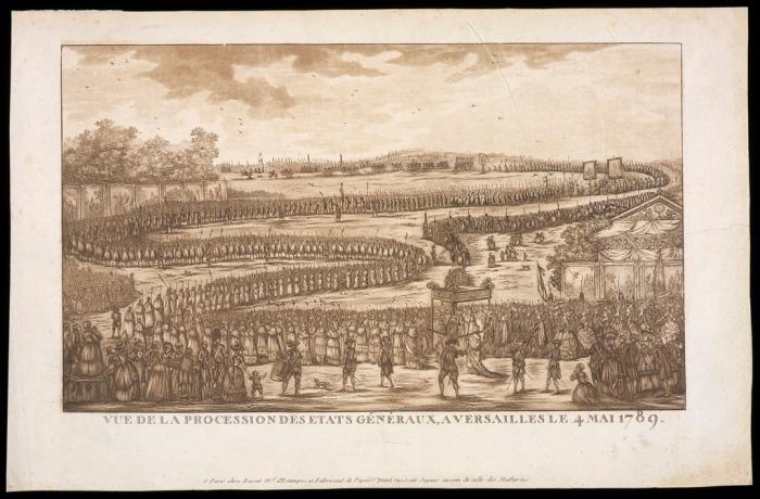 La procession s'est faite sans incidents. Seul fait notable : le public ne soutenait que les membres du tiers-état.