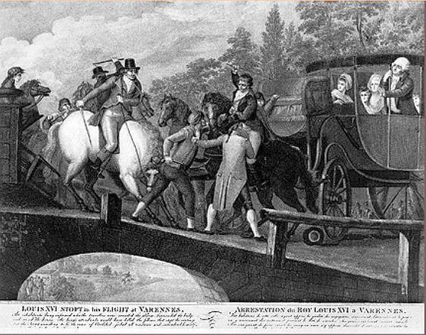 L'arrestation de la famille royale à Varennes