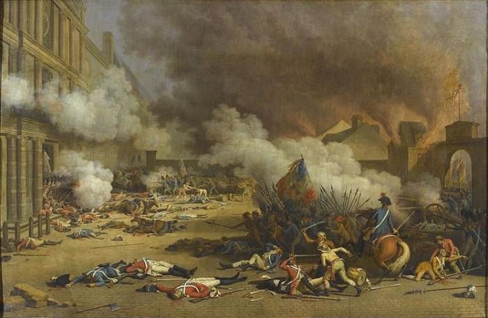 La prise des Tuileries.