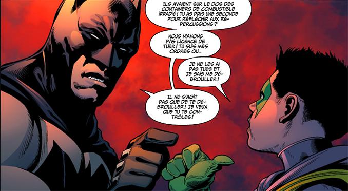 Ce genre de discussion entre Batman et Robin est fréquent dans ce tome.