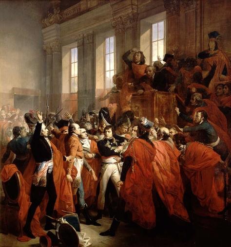 Le coup d'Etat du 18 Brumaire ou commencer mettre un empereur à la place d'un roi.