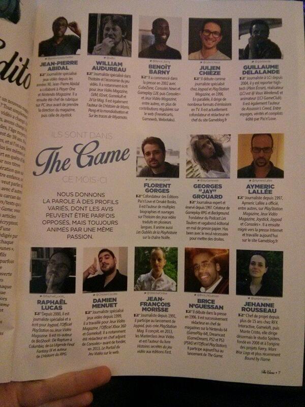 Voilà la bande qui a contribué à ce tout premier numéro (Photo postée par le membre FanDeGaming sur les forums de Gamekult)