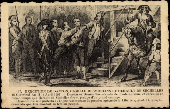 En faisant guillotiner Danton et Desmoulins, Robespierre sacrifie ses amis les plus proches sur l'autel de son idéal révolutionnaire.