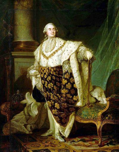 Louis XVI en Habit de Sacre par Joseph-Siffrein Duplessis, Musée Carnavalet, Paris.