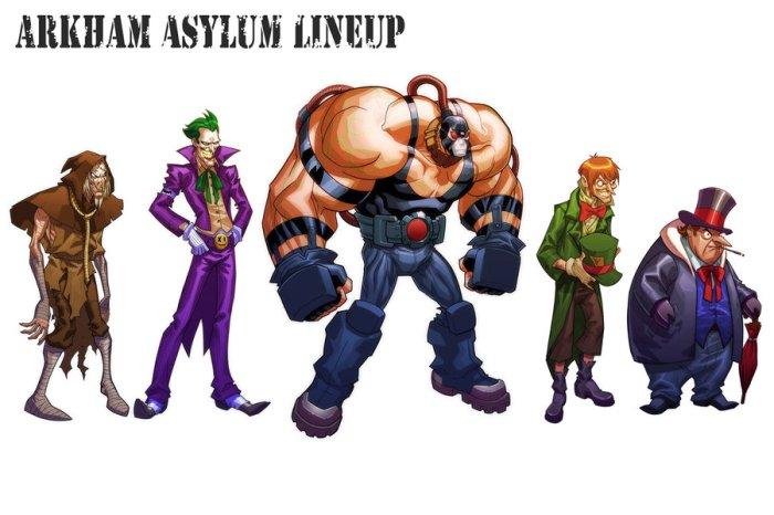 Arkham Asylum Lineup