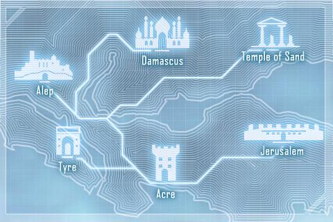 Le jeu nous amène à voyager dans toute la Terre Sainte.