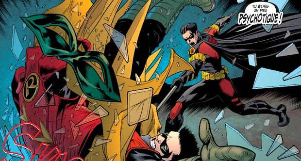Il est amusant de voir comment Damian se donne raison rien qu'en voyant la réaction des anciens Robin.