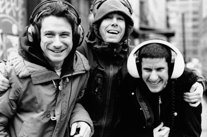 Les Beastie Boys, de gauche à droite : Ad-Rock, MCA et Mike D.