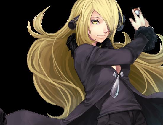 Cynthia, Maître Pokémon de la Ligue de Sinnoh, est la première femme a avoir ce titre dans les jeux de Game Freak.