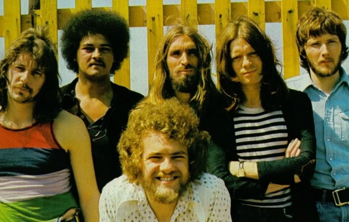 Les mecs de Stealers Wheel au grand complet en 1972.