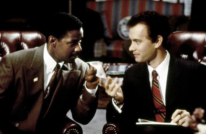 Denzel Washington et Tom Hanks sont les deux acteurs principaux de Philadelphia.