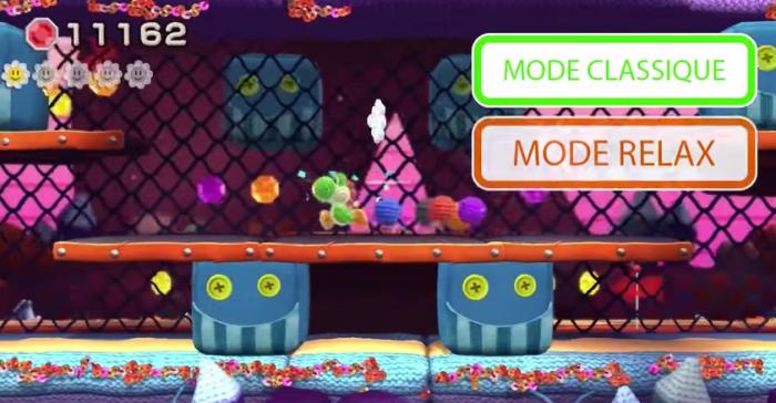 Yoshi's Wooly World permettra de switcher entre le mode Classique et le mode Relax en cours de niveau et sans avoir à recommencer ce dernier depuis le début.