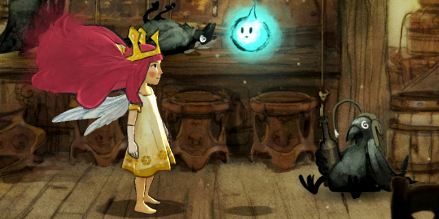 Aurora, même entourée des meilleurs compagnons, sera toujours une petite princesse perdue loin de chez elle. Il y a de quoi se morfondre...