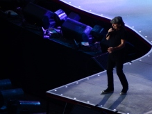Brian Johnson, chanteur d'AC/DC, en grande forme.