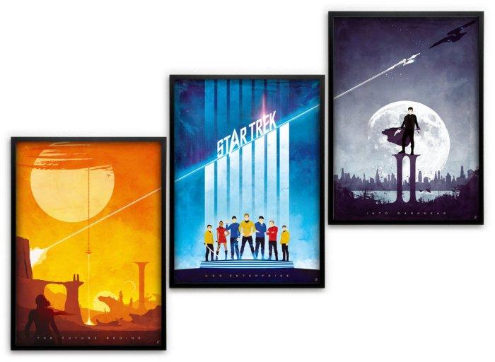 Star Trek Triptych Assembled