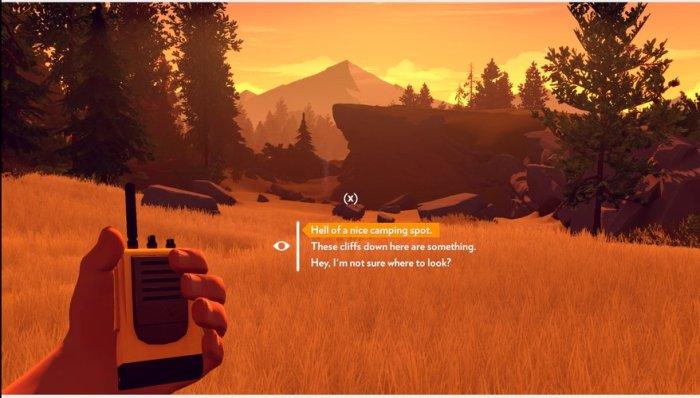 Je ne sais pas encore trop ce qu'il faudra y faire mais l'environnement de Firewatch est superbe.