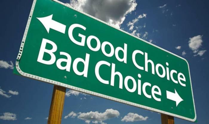 Choisir, c'est dur.