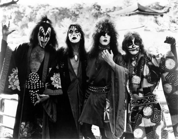 Kiss au Japon en 1977.