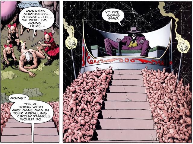 Le parc d'attraction où le Joker accompli ses méfaits est anxiogène au possible.