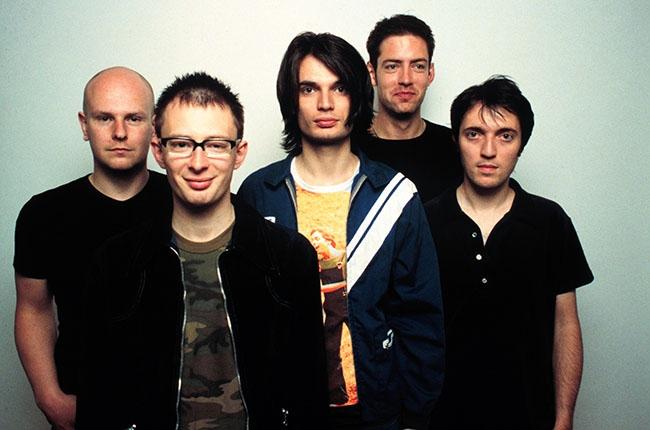 Les mecs de Radiohead en 1997, à l'époque de la sortie de OK Computer.
