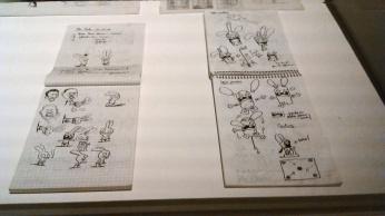 J'ai beaucoup aimé l'idée d'exposer des carnets de croquis mais j'aurais bien aimé qu'il y en ait un peu plus.