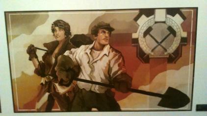 Artwork dans un style affiche pour The Technomancer.