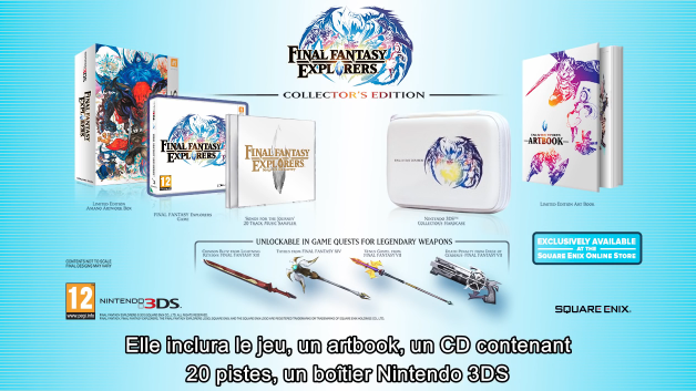 Le collector de Final Fantasy Explorers.