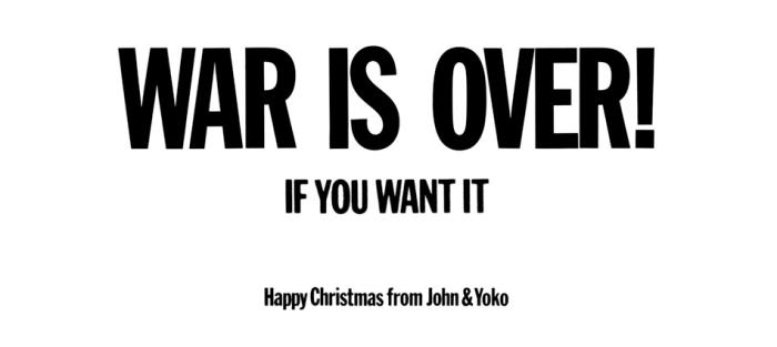 J'en suis pas au point de John Lennon et Yoko Ono mais, au fond, il y a de l'idée.