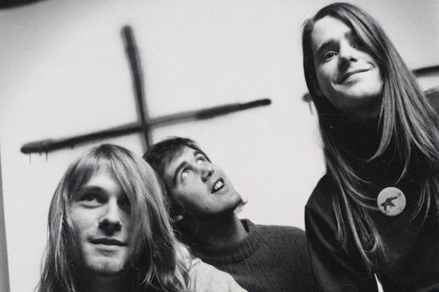 Nirvana à l'époque de Bleach (de gauche à droite) : Kurt Cobain, Krist Novoselic et Chad Channing.