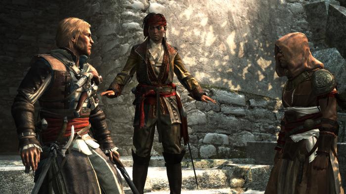 Les réflexions que se fait Edward après sa rencontre avec le chef Assassin Ah-Tabai sont rendues bien plus explicites par cette narration à la première personne.