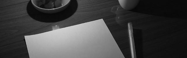 La page blanche...