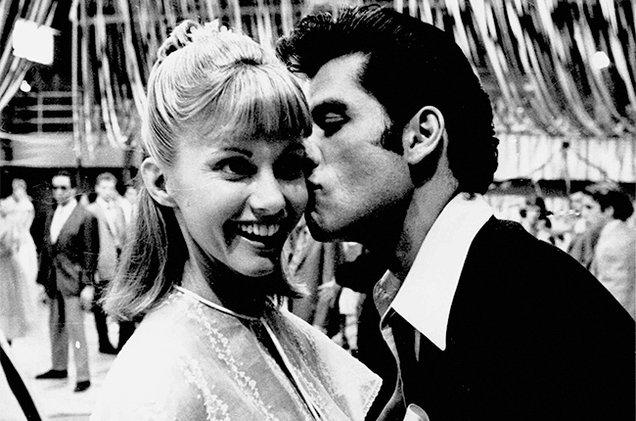 Olivia Newton-John et John Travolta sur le tournage de Grease.
