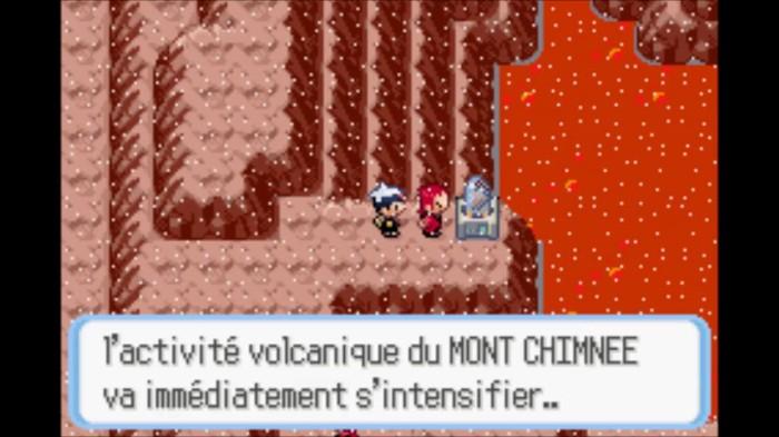 Le Mont Argenté est sans doute emblématique dans la licence Pokémon mais le Mont Chimnée est le premier volcan actif (le seul, me semble-t-il) que nous croisons dans les version Rubis, Saphir et Emeraude, rappelant la grande activité volcanique de l'archipel nippon.
