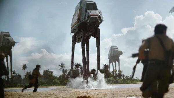 La scène de bataille sur Scarif (qui ne sera pas sans évoquer celle de la planète Hoth dans L'Empire Contre-Attaque) est à mon goût palpitante.
